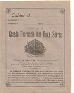 Cahier D'écolier Vierge Grande Pharmacie Des Deux Sevres Niort G QUEUILLE Pharmacien De 1ere Classe - Produits Pharmaceutiques