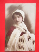 Old Photo/Postcard-Beauty Girl In Winter Clothes,Posing-Traveld:Debrecen To Regoce(Ridjica) 191?. - Portraits