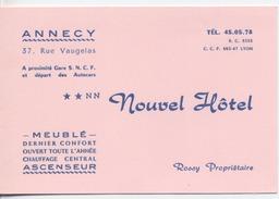 74 - ANNECY  - Nouvel Hotel  -  Document Publicitaire - - Hotel Labels