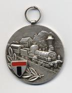 SUISSE  - NEUCHATEL - MEDAILLE - TRAIN - Signé PEKA - Rare - Professionnels / De Société