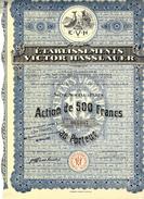 ACTION DE 500 FRS ETABLISSEMENTS  VICTOR HASSLAUER E.V.H PARIS PARFUMS  B.E.V.SCANS - Parfum & Cosmetica