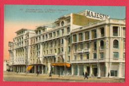 CPA (Réf : U 326) (AFRIQUE MAROC) 147. CASABLANCA -  L'Hôtel Majestic LL (animée) - Casablanca