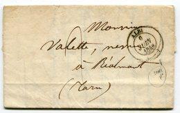 TARN De ALBI Cachet T14 Sans N° Du Dpt Sur LAC Du 06/06/1846 - 1801-1848: Precursores XIX