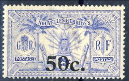 Nouvelles Hebrides 1924 N. 75 C. 50 Su C. 25 MNH Cat. € 36 - Used Stamps
