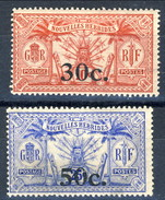 Nouvelles Hebrides 1924 N. 74 C. 30 Su C. 10 (MH) E N. 76 C. 50 Su C. 25 MNH Cat. € 11 - Used Stamps