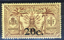 Nouvelles Hebrides 1920 N. 62 C. 20 Su C. 30 MLH Cat. € 19 - Used Stamps