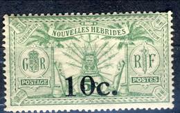 Nouvelles Hebrides 1920 N. 61 C. 10 Su C. 5 MLH Cat. € 19 - Used Stamps