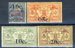Nouvelles Hebrides 1920 N. 59, 60, 61, 62 MLH Cat. € 85 - Used Stamps