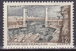 Timbre-poste Neuf** - Port De Brest - N° 1117 (Yvert) - France 1957 - France