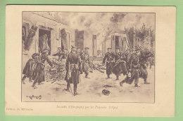 ETREPAGNY : Incendie D'Etrepagny Par Les Prussiens, 1870. 2  Scans. Edition Du Millenaire - France