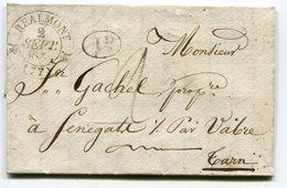 TARN De REALMONT Cachet T12 Sur LAC Du 02/09/1835 - 1801-1848: Precursores XIX