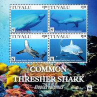WWF W.W.F. 2016 Tuvalu MNH Souvenir Sheet 2016 : Common Thresher Shark / Fish - W.W.F.