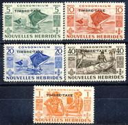 Nouvelles Hebrides Tasse 1953 Serie N. 26-30 MNH Cat. € 37 - Postage Due