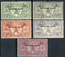 Nouvelles Hebrides Tasse 1925 Serie N. 1-5 Usati Cat. € 32.50 - Postage Due