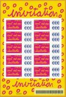 France**LUXE 2005 Personalisé F 3760B Feuillet Adhésif 52A Photo (de 2006), Ceci Et Une Invitation, Vf Lettre 20g X 10 - Personalized Stamps