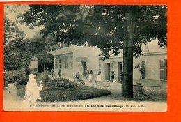 77 SAMOIS Sur SEINE : Grand Hôtel Beau Rivage - Un Coin Du Parc (état) - Samois