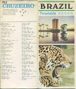 Brasil - Timetable Fly Cruzeiro 1970 - 8 Seiten Mit 10 Abbildungen - Flugdaten - Monde