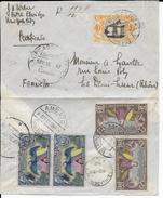 EQUATEUR - 1940 - ENVELOPPE Par AVION RECOMMANDEE De AMBATO Pour DEMI LUNE - Equateur