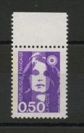 FRANCE  - 0,50 VIOLET TYPE BRIAT PHOSPHORE À GAUCHE  N° YT 2619** - 1989-96 Marianne Du Bicentenaire
