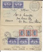 EQUATEUR - 1940 - ENVELOPPE Par AVION RECOMMANDEE De QUITO Pour DEMI LUNE - Equateur