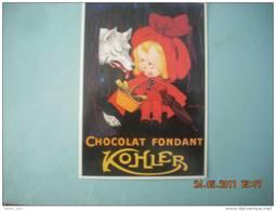 CLOUET      10540  CHOCOLAT KOHLER LE  LOUP ET LE  PETIT CHAPERON ROUGE  ONWY - Chiens