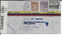 EQUATEUR - 1941 - ENVELOPPE Par AVION Avec CENSURE De QUITO Pour LYON - Equateur