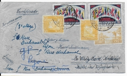 BOLIVIE - 1940 - ENVELOPPE RECOMMANDEE Par AVION De LA PAZ Pour LE CHEYLARD Puis REEXPEDIEE à LYON - Bolivie