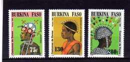 "BURKINA FASO  1991  MNH   -  ""  COSTUMES ""  -  3  VAL - Burkina Faso (1984-...)"