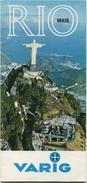 Brasil - Rio 1970 - Faltblatt Mit 36 Abbildungen - Varig - Su Agente De Viajes IATA - World