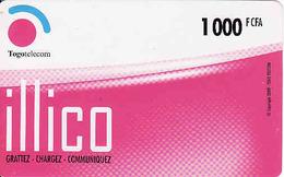 Togo Telecom 1000 FCFA, Illico - Togo