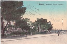 Brindisi Giardinetto Vittorio Emanuele Avec Cachet Militaire Service à La Mer - Brindisi