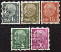 SAAR 1957 - MiNr: 409-428 Lot 5x  Used - 1957-59 Bundesland