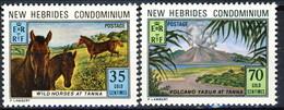 New Hebrides 1973 Serie N. 372-373 MNH Cat. € 5 - English Legend