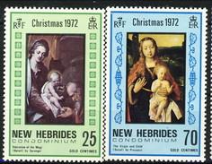 New Hebrides 1972 Christmas Serie N. 352-353 MNH Cat. € 2 - Leggenda Inglese