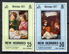 New Hebrides 1971 Serie N. 316-317 MNH Cat. € 3.20 - English Legend