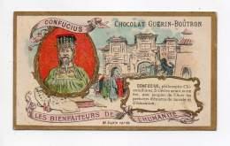 Chromo - Chocolat Guérin Boutron - Les Bienfaiteurs De L'humanité - Confucius - Guerin Boutron