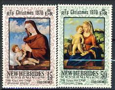 New Hebrides 1970 Christmas Serie N. 302-303 MNH Cat. € 2.50 - Leggenda Inglese