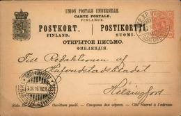 FINLANDE - Entier Postal Voyagé En 1894 - A Voir - L 5955 - Finlande