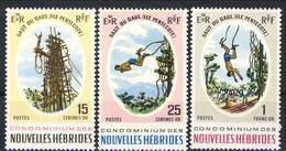 Nouvelles Hebrides 1969 Serie N. 286-288 MNH Cat. € 4.50 - English Legend