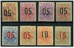 Guinée (1912) N 55 à 62 * (charniere)