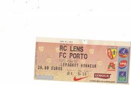 1 Ticket Entrée Coupe Uefa Rc Lens - Ethnikos Achnas 28 Septembre 2006 - Tickets D'entrée