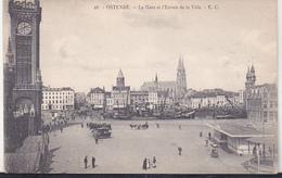 Belgium Old Uncirculated Postcard - Oostende - Le Gare Et L`Entree De La Ville - Oostende