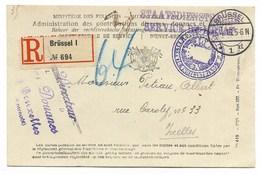 Recom.Brüssel 1   5.4.16  Staatsdienstsache  /Douanes - WW I