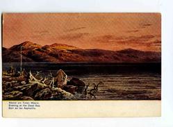 C 19136  -  Evening At The Dead Sea  -  Soir Au Lac Asphaltite -  Perlberg Pinx.  -  Palestine - Palestine