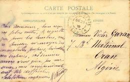 FRANCE / RÉUNION - Oblitération De Saint Denis Sur Carte Postale En 1909 Pour L 'Algérie - A Voir - L 5965 - Réunion (1852-1975)
