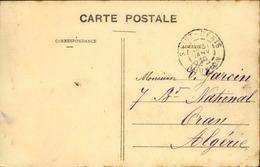 FRANCE / RÉUNION - Oblitération De Saint Denis Sur Carte Postale En 1910 Pour L 'Algérie - A Voir - L 5966 - Réunion (1852-1975)