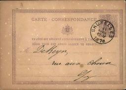 BELGIQUE - Entier Postal Commerciale De Bruxelles En 1878 - A Voir - L 5969 - Stamped Stationery
