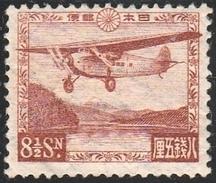 JAPAN 1929 > Air Mail, 8½ Sen Brown > Michel 195 – Sakura A 1 – Scott C 3 (*)