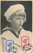 D28564 CARTE MAXIMUM CARD 1939 BELGIUM - YOUNG PRINCE ALBERT - 2 STAMPS CP ORIGINAL - Royalties, Royals