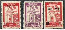 Indochine (1943) N 278 à 280 * (charniere)